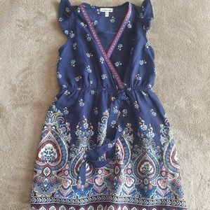 Monteau Girl Sleeveless Floral Dress Sz 6 Girl's